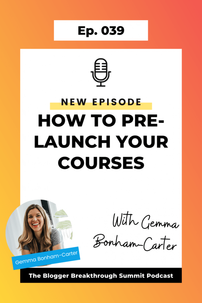 BBP 039 How to Pre-launch Your Courses with Gemma Bonham-Carter