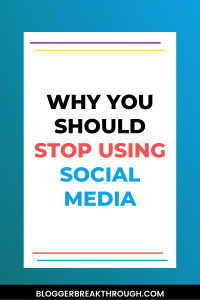 Why You Should Stop Using Social Media for Your Blog